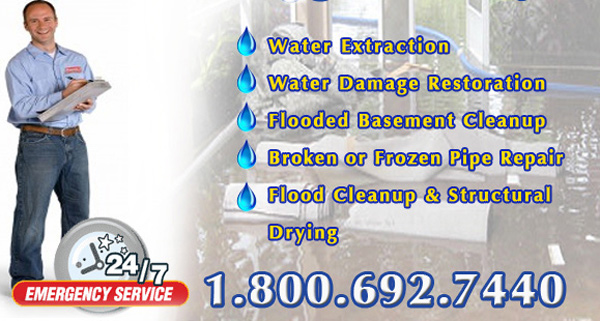 cleanup and drying for basement floods in Champaign, Illinois