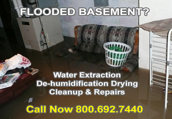 Flooded Basement Cleanup St. Clair, Michigan